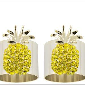 Joanna Buchanan Pineapple Napkin Rings (2) NWT